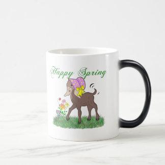 Happy Spring Goat 11 Oz Magic Heat Color-Changing Coffee Mug