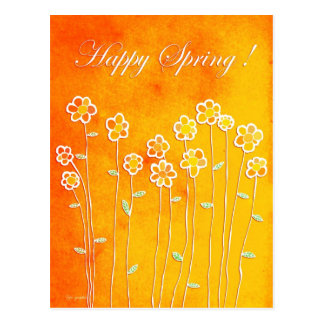 Happy Spring ! Postcard