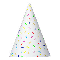 happy sprinkles party hat