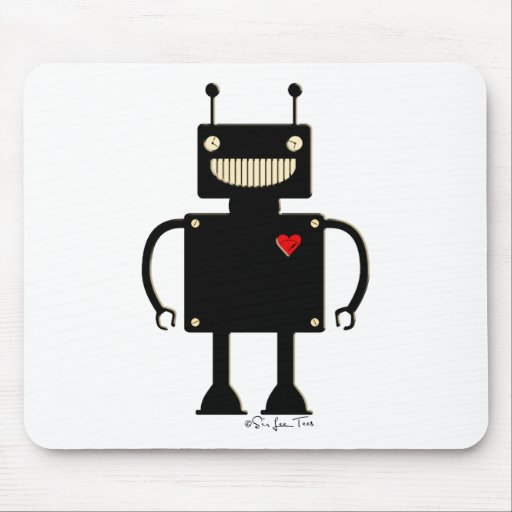 Happy Square Robot 1 Mouse Pad