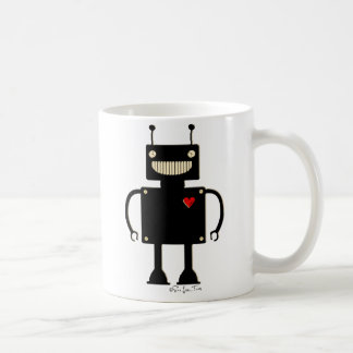 Happy Square Robot 1 Classic White Coffee Mug