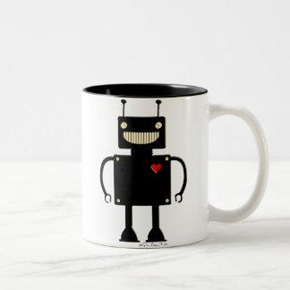 Happy Square Robot 1 Two-Tone Coffee Mug