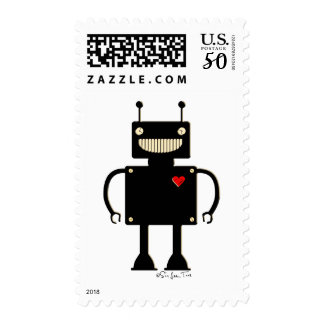 Happy Square Robot 1 Postage