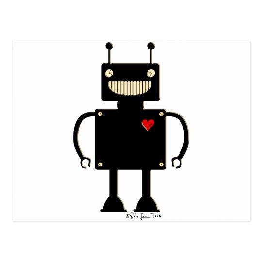 Happy Square Robot 1 Postcard