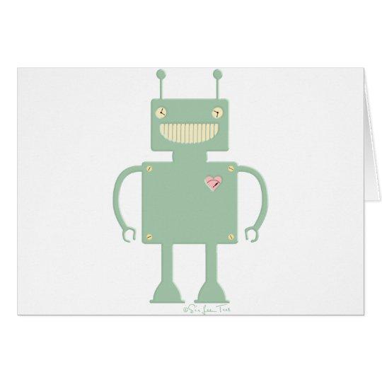 Happy Square Robot 2 Card