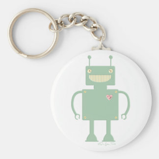 Happy Square Robot 2 Keychain
