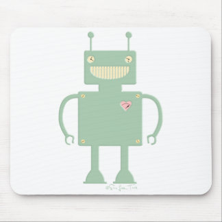 Happy Square Robot 2 Mouse Pad
