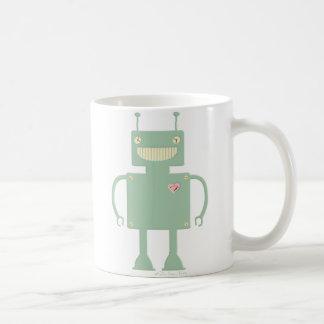 Happy Square Robot 2 Classic White Coffee Mug