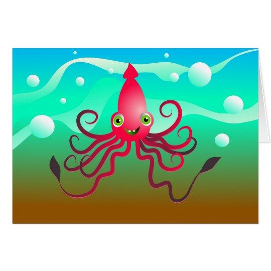 Happy Squid Card