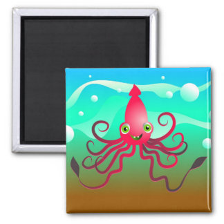 Happy Squid Refrigerator Magnets
