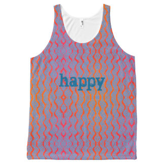Happy Squiggle All-Over-Print Tank Top