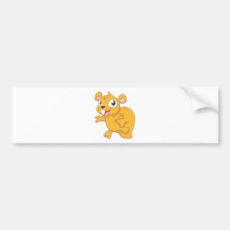 Happy Squirrel Cartoon Bumper Sticker