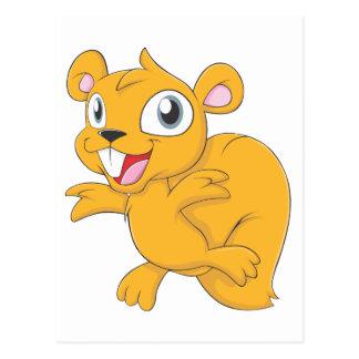 Happy Squirrel Cartoon Postcard