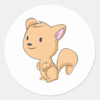 Happy Squirrel Classic Round Sticker