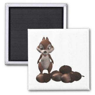 Happy Squirrel Magnet