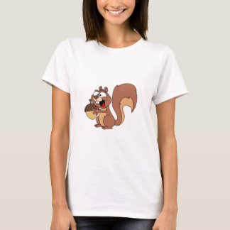 Happy Squirrel with Acorn T-Shirt