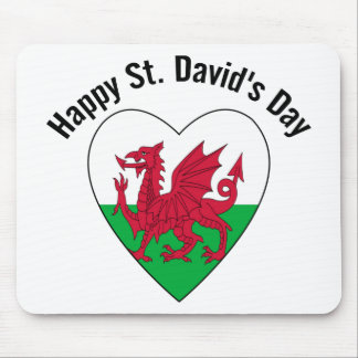 Happy St. David's Day Mouse Pad
