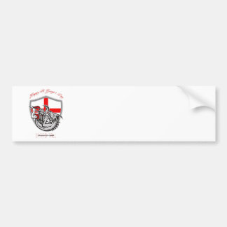 Happy St George Stand Tall Proud to be English Ret Bumper Sticker