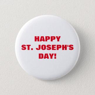 HAPPY ST. JOSEPH'S DAY! BUTTON