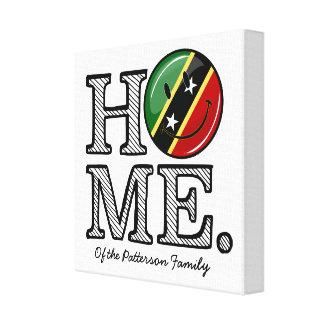 Happy St. Kitts Flag House Warmer Canvas Print