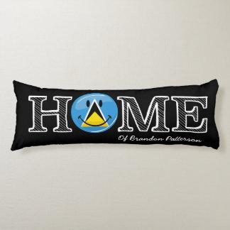 Happy St. Lucian Flag House Warmer Body Pillow