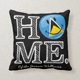 Happy St. Lucian Flag House Warmer Throw Pillow