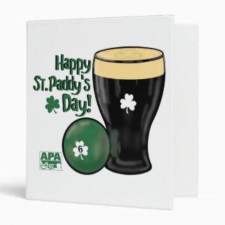 Happy St. Paddy's Day 3 Ring Binder