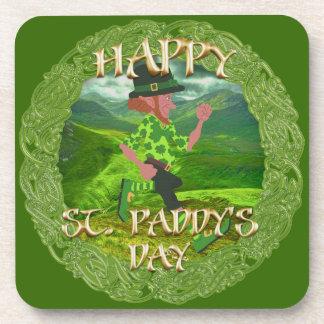 """Happy St. Paddy's Day"" Cork Coaster"