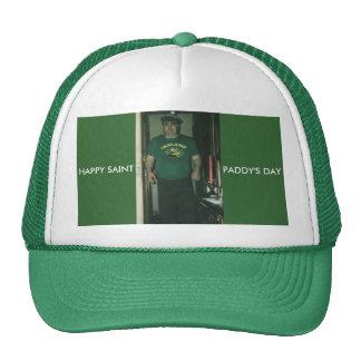 HAPPY ST PADDYS DAY, HAPPY SAINT, PADDY'S DAY TRUCKER HAT