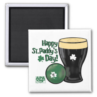 Happy St. Paddy's Day 2 Inch Square Magnet