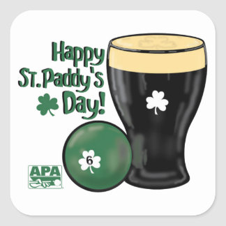 Happy St. Paddy's Day Square Sticker