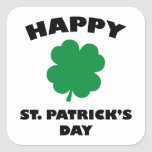 Happy St. Patick's Day Square Sticker