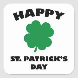 Happy St. Patick's Day Square Sticker