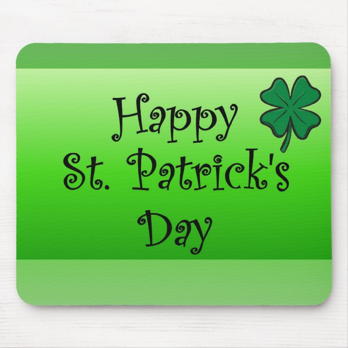 Happy St. Patrick's Day Mouse Pad