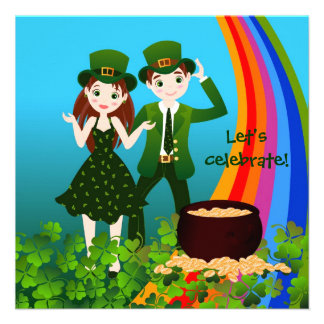 Happy St Patrick Day Custom Announcement