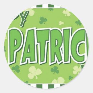 Happy St Patrick Day Round Sticker