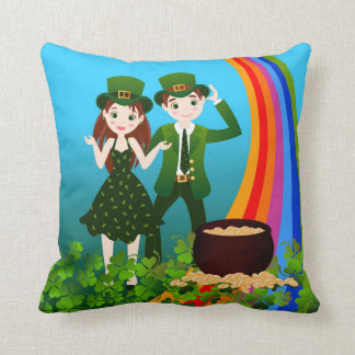 Happy St Patrick Day Throw Pillow