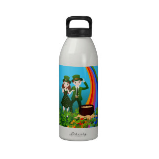 Happy St Patrick Day Reusable Water Bottles