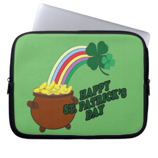 Happy St Patrick s Day 1 Computer Sleeve