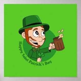Happy St. Patrick's Day cartoon Poster