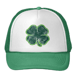 Happy St. Patrick's Day Shamrock Grunge Hat
