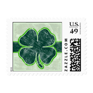 Happy St. Patrick's Day Shamrock Grunge Stamp