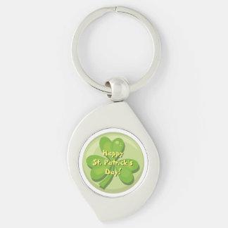 Happy St. Patrick´s Day Shamrock Keychain