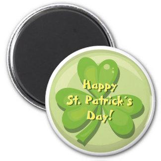 Happy St. Patrick´s Day Shamrock Fridge Magnets