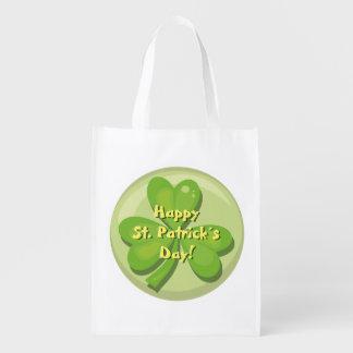 Happy St. Patrick´s Day Shamrock Market Totes