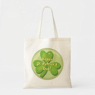 Happy St. Patrick´s Day Shamrock Tote Bag