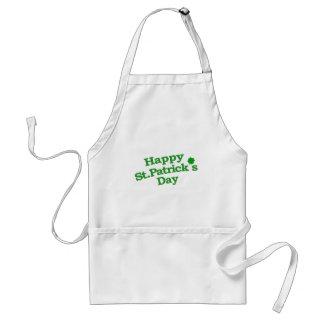 Happy St. Patrick´s Day Typographic Design Adult Apron