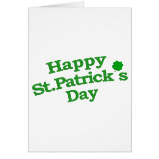Happy St. Patrick´s Day Typographic Design Card