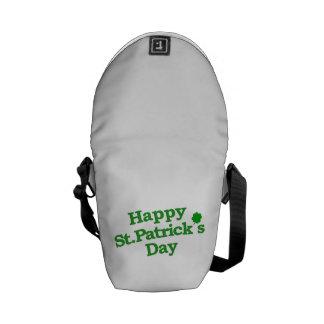 Happy St. Patrick´s Day Typographic Design Courier Bag