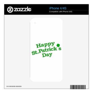 Happy St. Patrick´s Day Typographic Design iPhone 4S Decals